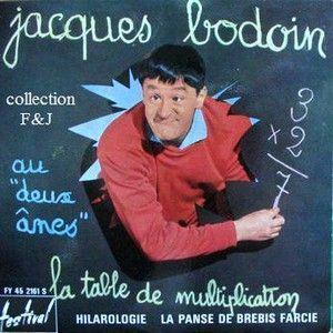 Jacques bodoin - Chanson table de multiplication ...
